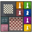 Chess icons vector image