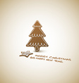 Christmas card - ginger breads with white icing vector image