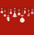 Christmas hanging ornaments background christmas