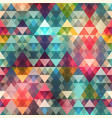 colored triangle seamless pattern vector image vector image
