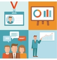 conference concepts in flat style vector image vector image