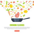 cooking classes landing page template culinary vector image vector image