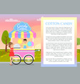 cotton candy poster and text vector image vector image