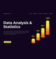 data analysis and statistics landing page vector image vector image
