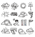 Doodle Weather Set vector image