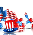 Festive Background in American National Colors vector image vector image