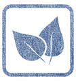 flora plant fabric textured icon vector image