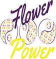 Flower Power Yin Yang vector image vector image
