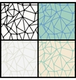 Geometric Abstract Seamless Polygonal Backgrounds vector image
