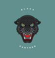 head of a black panther vector image vector image