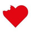 heart red love icon vector image vector image