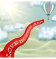 Hot air balloon EPS 10 vector image vector image