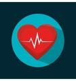 icon cardiology sport health design vector image