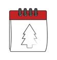 Isolated calendar of Christmas season design vector image