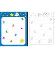 Little star worksheet vector image