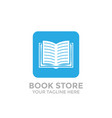 Logo book shop template learning education book