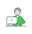 male smart worker laptop gadget isolated vector image vector image