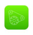 motor icon green vector image vector image