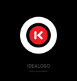 o and k - design element or icon monogram vector image