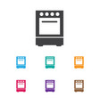 of cook symbol on cooker icon vector image