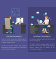 online business posters set vector image vector image