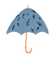 open umbrellas with flowers isolated on white vector image vector image
