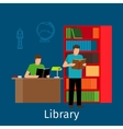Reading in library vector image