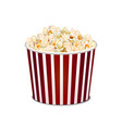 realistic detailed 3d popcorn snack vector image