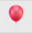 red realistic balloon vector image