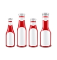 Red Tomato Ketchup Bottles of different Shapes vector image vector image