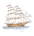 sailing ship isolated vector image