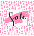 Sale lettering on brushstroke Caption sale vector image vector image
