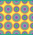 seamless color floral mandala pattern vector image
