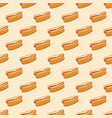 seamless pattern with hot dogs vector image