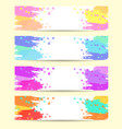 set banners abstract headers with varicolored vector image