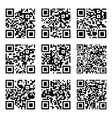 Set of abstract qr codes