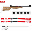 set of biathlon sport vector image