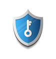 shield with key icon protection and security vector image vector image