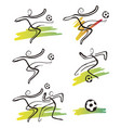 soccer players icons vector image vector image