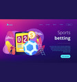 sports betting concept landing page vector image vector image