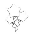 star shape balloons vector image vector image