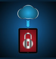 technology digital cyber security tablet lock vector image vector image