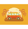 Travel Omnibus on Summer Beach vector image