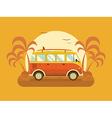 travel omnibus on summer beach vector image