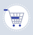 trolley cart shopping icon concept flat vector image vector image