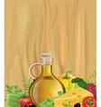 Vegetables olive oil wood