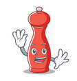 waving pepper mill character cartoon vector image vector image