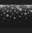winter falling snow snowflakes fall christmas vector image