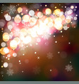 winter shining background magical festive vector image vector image