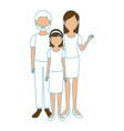 young family cartoon vector image